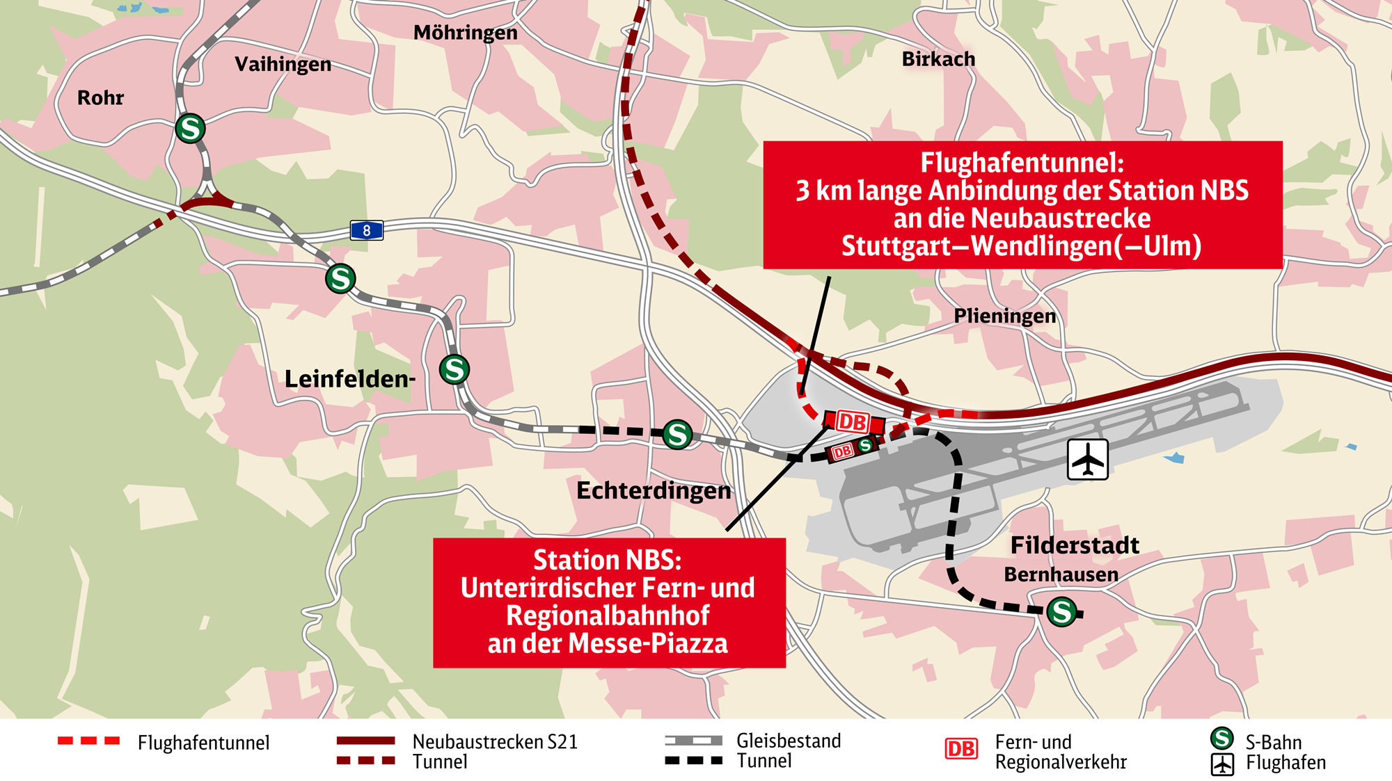 Stuttgart airport rail connection contract awarded