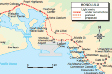 Honolulu - city map | Country profile | Railway Gazette