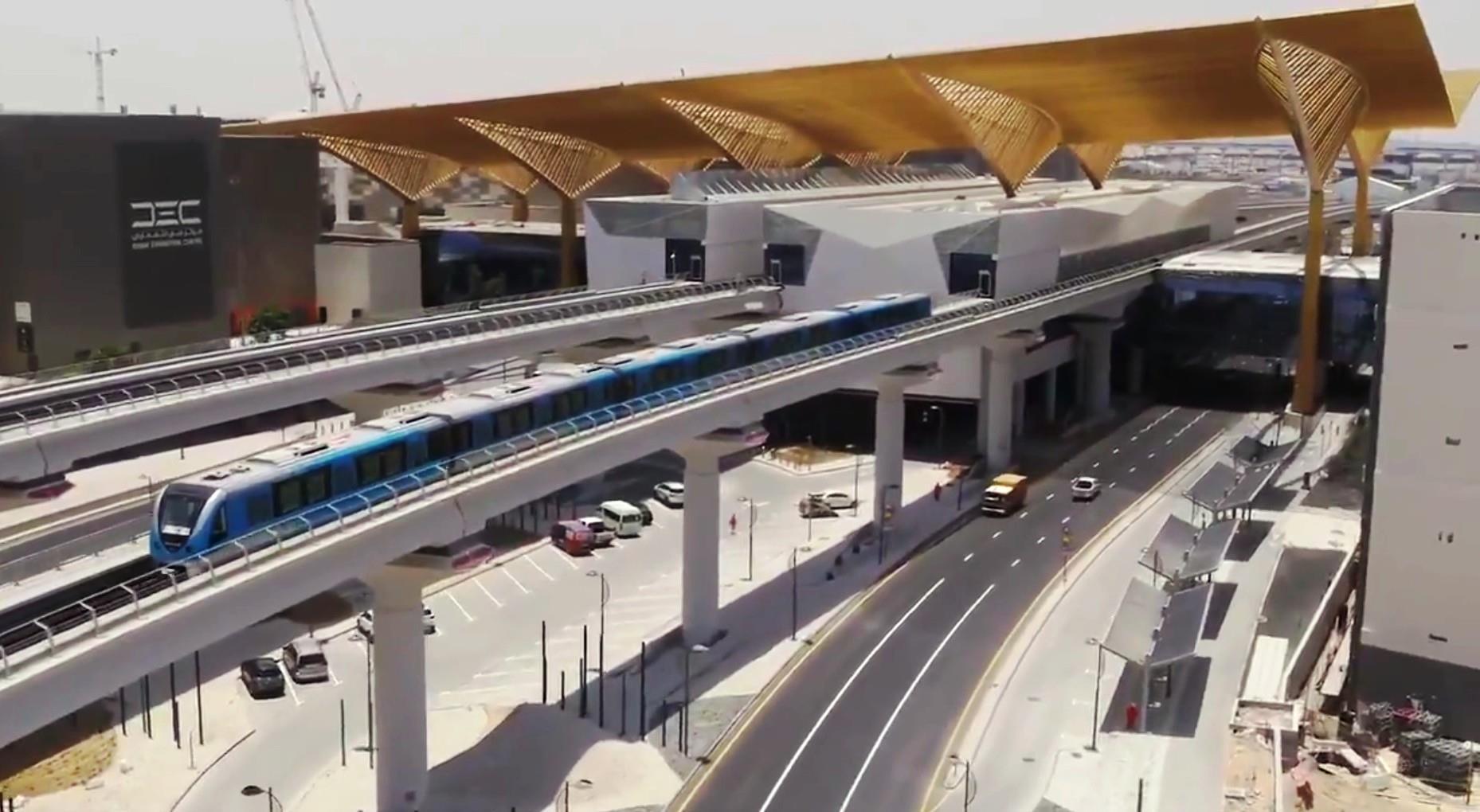 Dubai Route 2020 metro extension inaugurated   Urban news   Railway Gazette  International