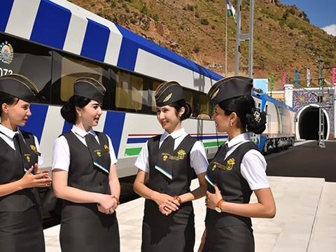 The 123 km Angren – Pap railway which provides a direct link between Toshkent and the Ferghana Valley was opened in 2016