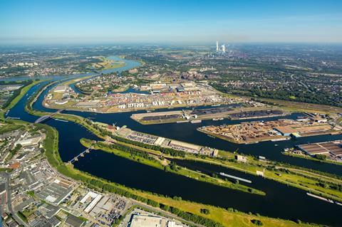 Duisburger Hafen aerial view (Photo: Duisport)