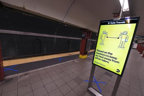 New York subway coronavirus poster